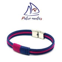 Sötétkék bordó színű vitorlás karkötő