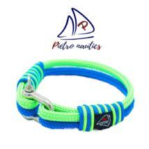 Neon zöld- világoskék színű vitorlás karkötő