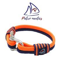 Sötétkék- neon narancs színű vitorlás karkötő