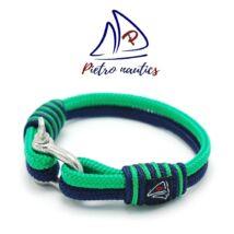Sötétkék - sötétzöld színű vitorlás karkötő
