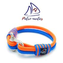 Neon narancs - világoskék színű vitorlás karkötő