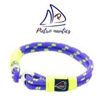 Lila neon sárga mintás vitorlás karkötő