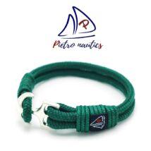 Sötétzöld színű vitorlás karkötő