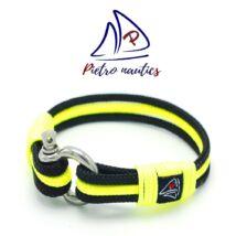Fekete - neon sárga színű vitorlás karkötő