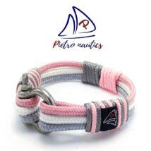 Ezüst - fehér - púder rózsaszín színű vitorlás karkötő