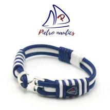 Sötétkék fehér színű vitorlás karkötő