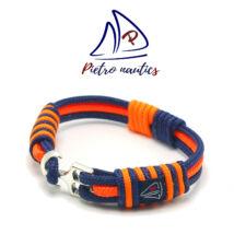 Sötétkék neon narancs színű vitorlás karkötő