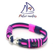 Sötétkék neon rózsaszín színű vitorlás karkötő