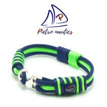 Sötétkék neon zöld színű vitorlás karkötő