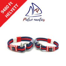 Sötétkék-piros-fehér színű vitorlás karkötő Duo