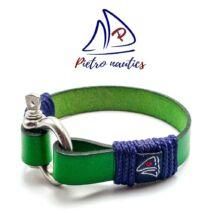 Zöld bőr karkötő