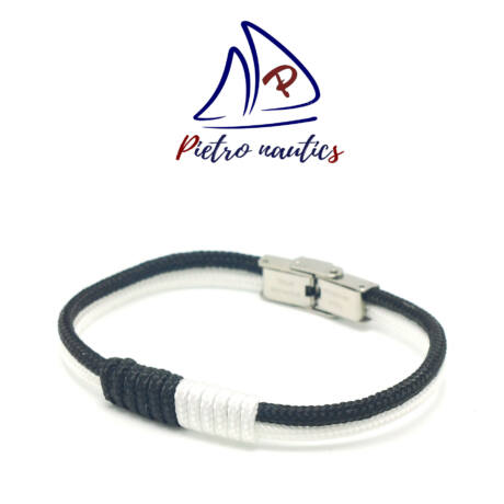 pietro-nautics-fekete-feher-szinu-vitorlas-karkoto-3mm-orakapoccsal-2soros