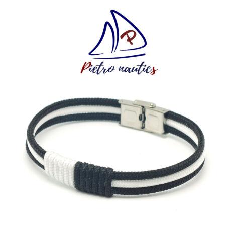 pietro-nautics-fekete-feher-szinu-vitorlas-karkoto-3mm-orakapoccsal-3soros