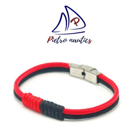 Fekete piros színű vitorlás karkötő