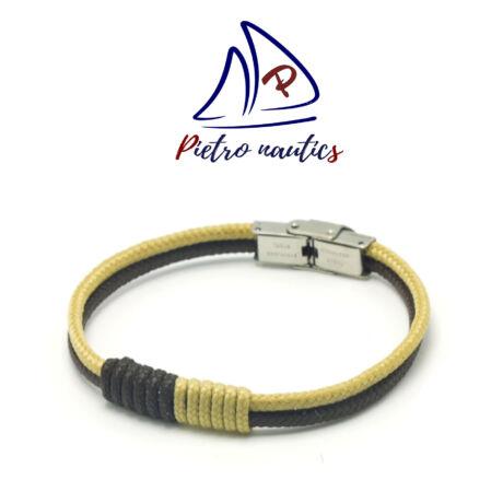pietro-nautics-sotetbarna-bezs-szinu-vitorlas-karkoto-3mm-orakapoccsal-2soros