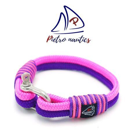Lila - neon rózsaszín  vitorlás karkötő