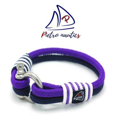 Lila - sötétkék - fehér  vitorlás karkötő