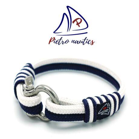 Sötétkék - fehér vitorlás karkötő