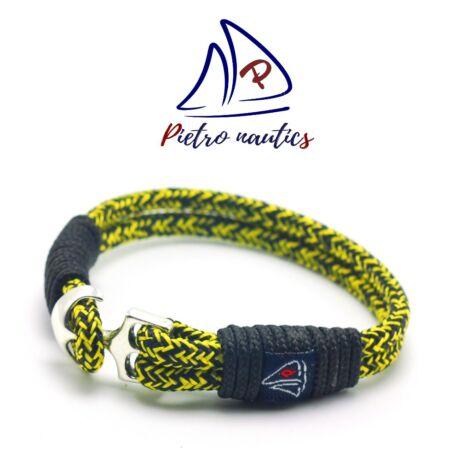 pietro-nautics-citromsarga-fekete-cirmos-mintas-vitorlas-karkoto-4mm-horgonyos-2soros