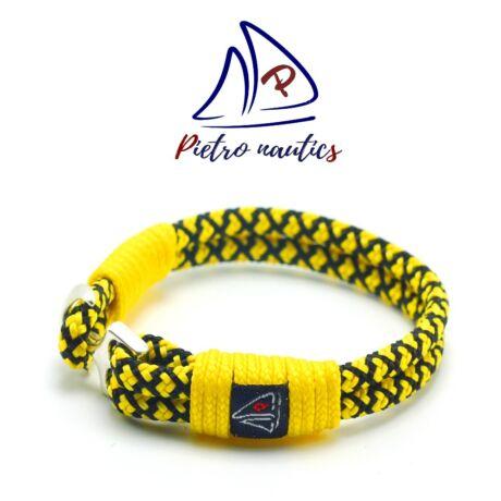 pietro-nautics-napsarga-fekete-gyemant-mintas-vitorlas-karkoto-horgonyos-4mm-2soros-sarga