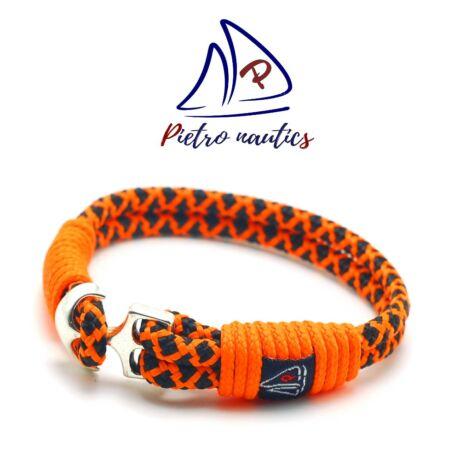 Neon narancs fekete gyémánt mintás vitorlás karkötő