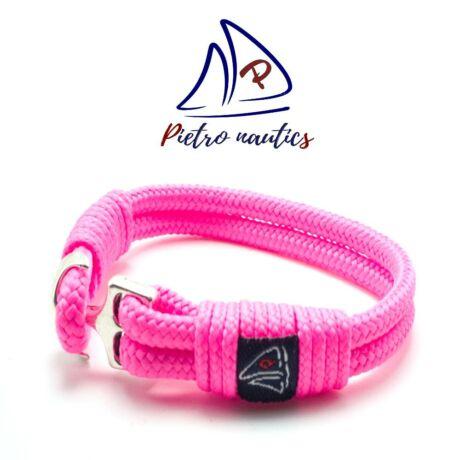 Neon rózsaszín színű vitorlás karkötő