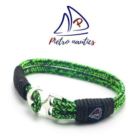 Neon zöld fekete cirmos mintás vitorlás karkötő