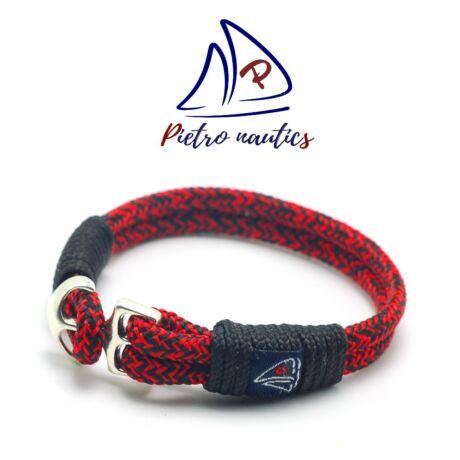 Piros fekete cirmos mintás vitorlás karkötő