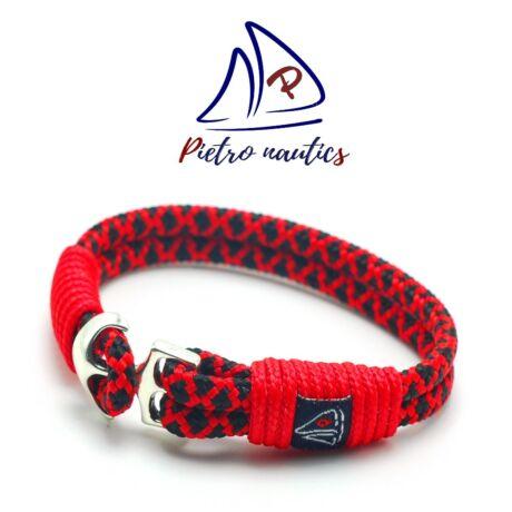 pietro-nautics-piros-fekete-gyemant-mintas-vitorlas-karkoto-horgonyos-4mm-2soros