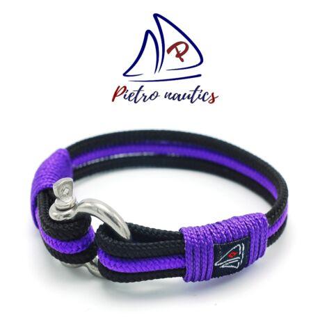 Fekete - lila színű vitorlás karkötő