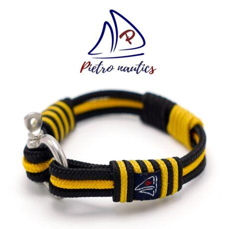 Fekete - mustár színű vitorlás karkötő