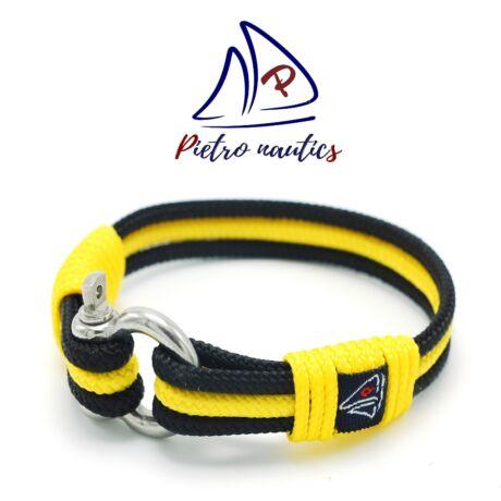 Fekete - napsárga színű vitorlás karkötő