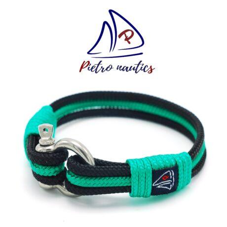 Fekete - zöld színű vitorlás karkötő