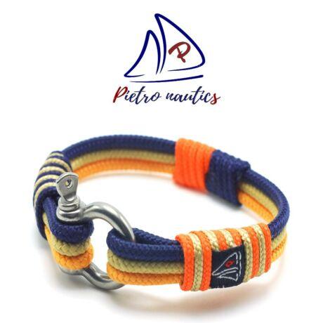 Narancs - bézs - sötétkék színű vitorlás karkötő