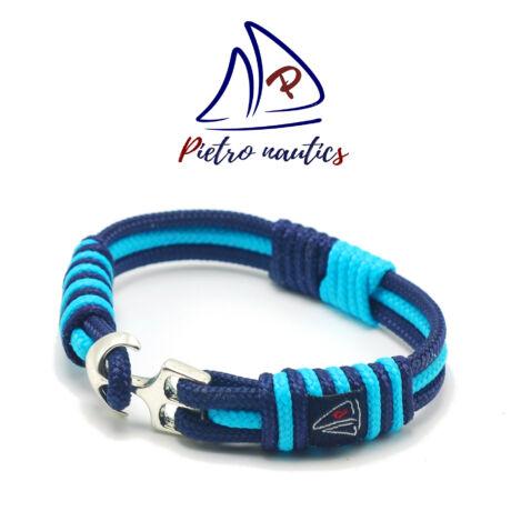 Sötétkék halvány kék színű vitorlás karkötő