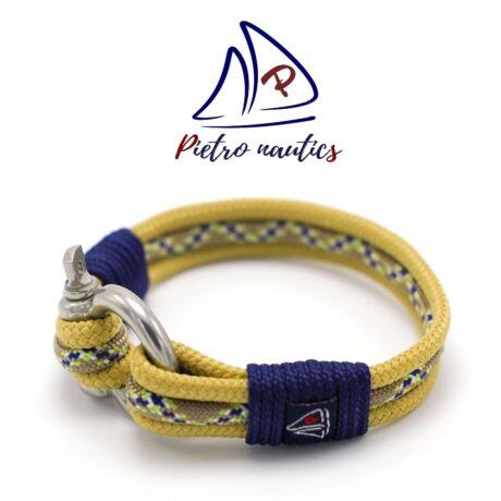 Bézs - kígyómintás  vitorlás karkötő XXL