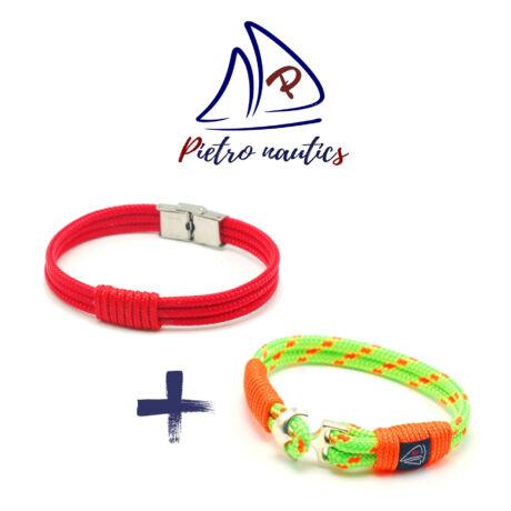 pietro-nautics-piros-szinu-vitorlas-karkoto-3mm-3soros-orakapoccsal-neon-zold-neon-narancs-mintas-vitorlas-karkoto-4mm-2soros-horgonyos