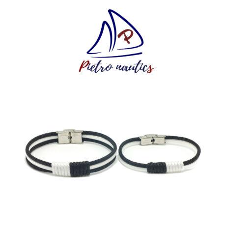 Fekete fehér színű vitorlás karkötő Duo