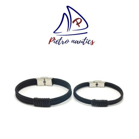 Fekete színű vitorlás karkötő Duo
