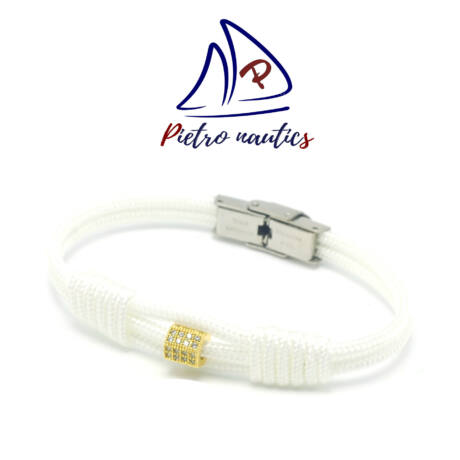 pietro-nautics-feher-vitorlas-karkoto-arany-strasszos-köztessel-3mm-orakapcsos