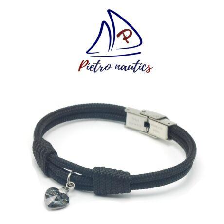 pietro-nautics-fekete-szinu-vitorlas-karkoto-szurke-swarovski-szivvel-3mm-orakapcsos