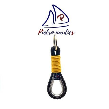 pietro-nautics-fekete-kulcstarto-mustar-szinu-atkotessel-kotelszivvel