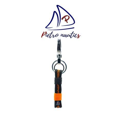 pietro-nautics-fekete-neon-narancs-cirmos-mintas-kulcstarto