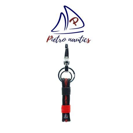 pietro-nautics-fekete-piros-cirmos-mintas-kulcstarto