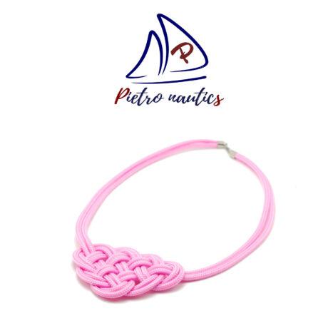 Halvány rózsaszín kelta csomós nyakék