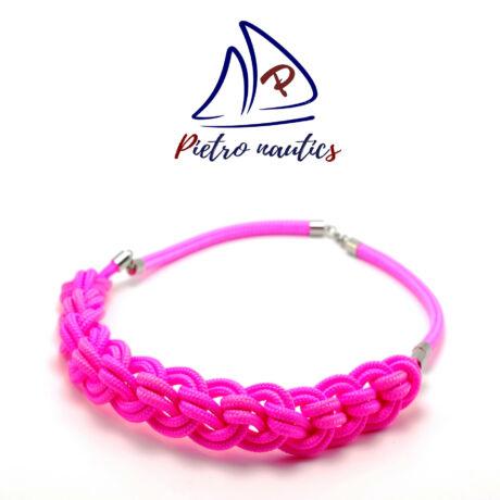 Neon rózsaszín színű fonott nyakék