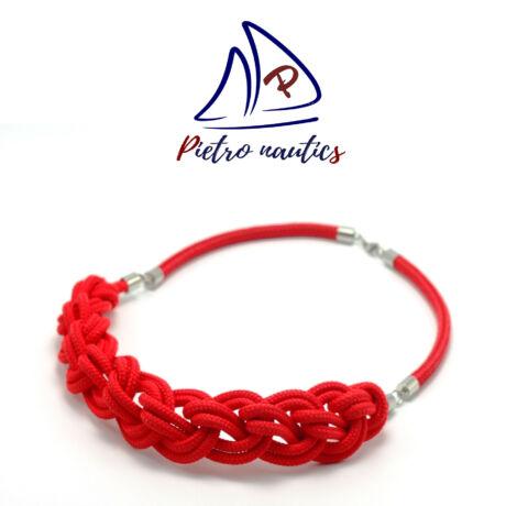 Piros színű fonott nyakék